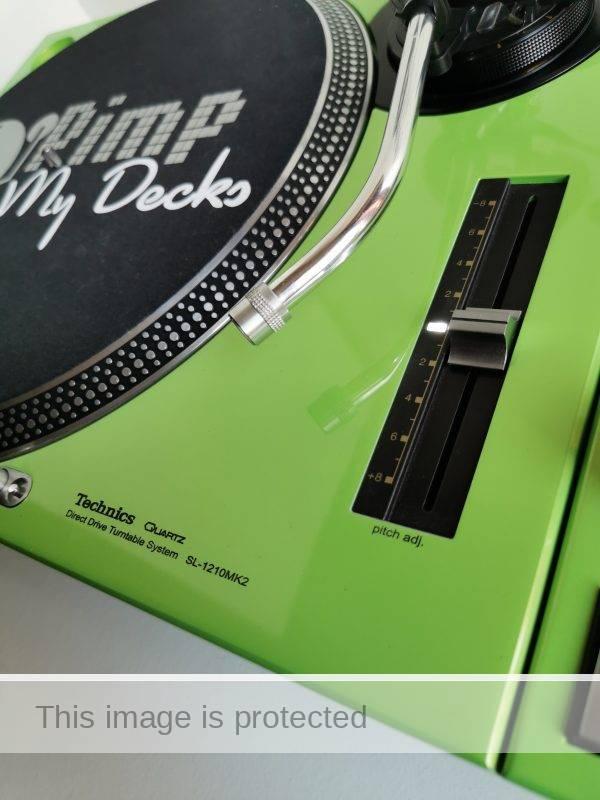 custom technics lambo green 1