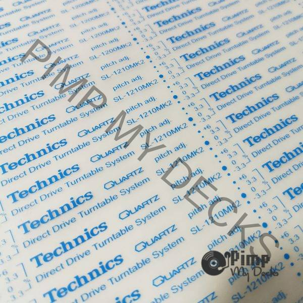 technics 1200 1210 decals blue