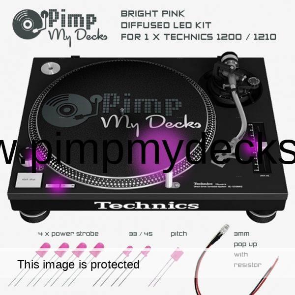 technics 1200 1210 pink led kit